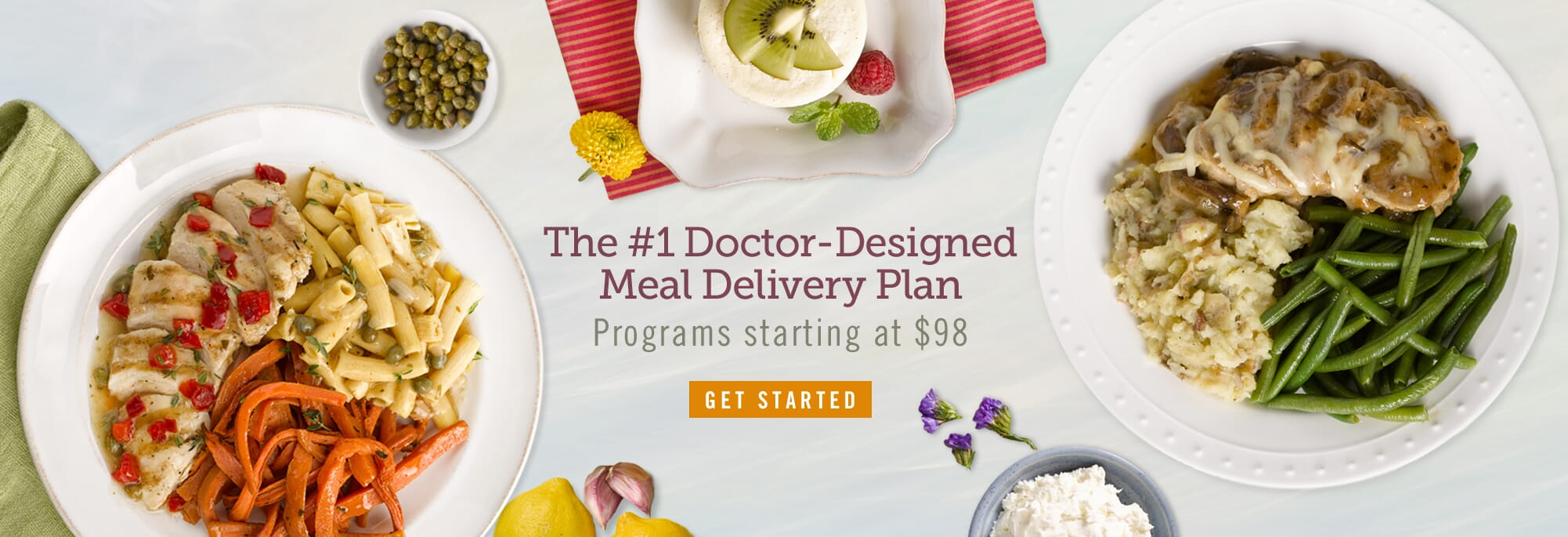 Over 150 delicious doctor-designed, chef-prepared entrees. Real results, no contracts. Your first week as low as $98 plus free shipping!