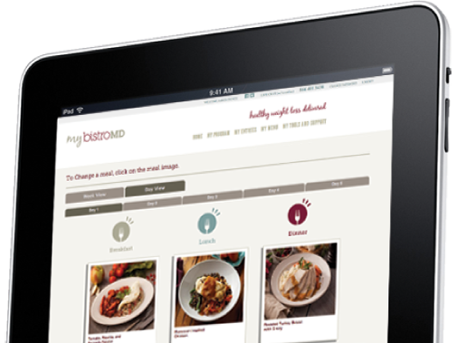 myBistro on an iPad