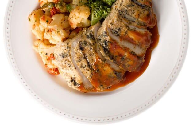 Herbed Chicken Parmesan with Italian Cauliflower