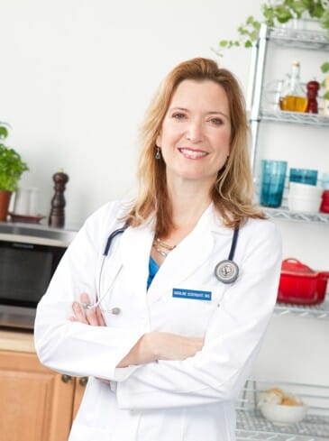 Dr. Cederquist in a kitchen