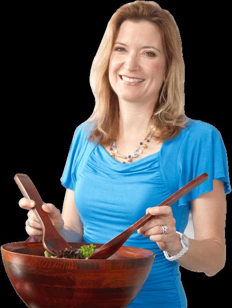 Dr. Cederquist making a salad
