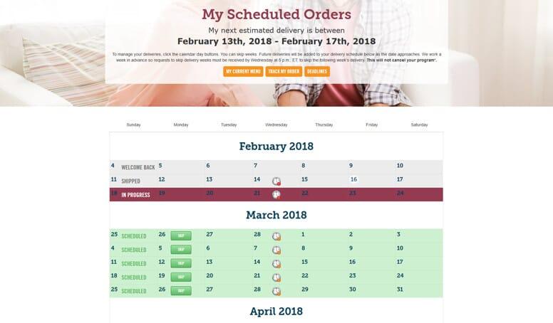 mybistromd delivery calendar