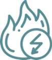 icon showing flame to represent fat burning