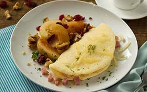 canadian-bacon-and-swiss-omelet