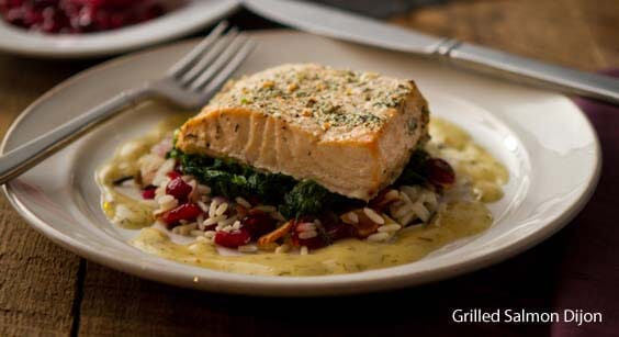 grilled salmon dijon