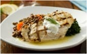 Greek Chicken with Lentils