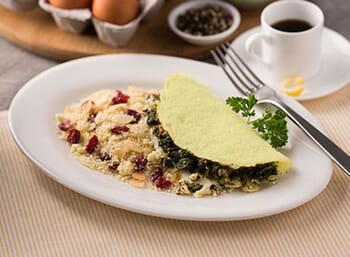 Greek Omelet with Fruited Quinoa