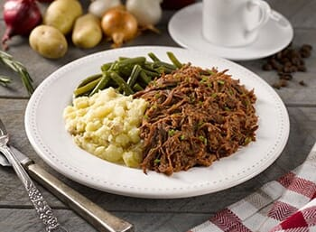 Hickory Smoked BBQ Beef with Yukon Gold Potatoes
