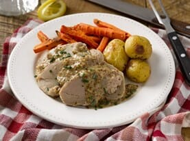 Pork Tenderloin with Whole Grain Mustard Sauce