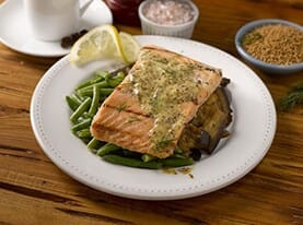 Salmon with Dill Mustard Sauce