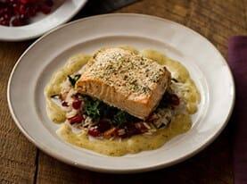 Grilled Salmon with Lemon Dijon Dressing