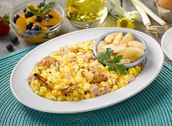 Ham and Potato Egg Scramble