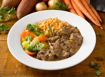 Beef with Green Peppercorn Sauce