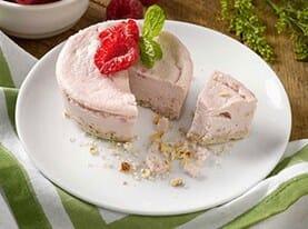 Sweet Red Raspberry Cheesecake