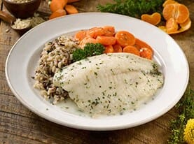 Tilapia with White Wine Cream Sauce