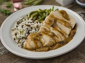 Chicken with Mushroom Cream Sauce