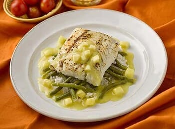 Barramundi Seabass with Sweet Coconut Pineapple Sauce