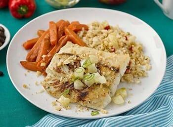 Macadamia Crusted Barramundi Seabass