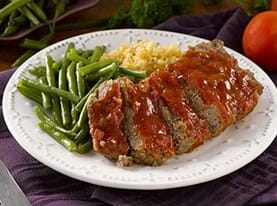 Meatloaf with Honey Bourbon Glaze
