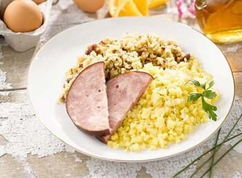 Cranberry Orange Multigrain Cereal with Ham