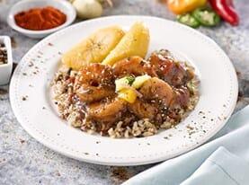 Jamaican Style Black Pepper Shrimp