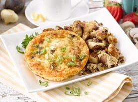 Caramelized Mushroom and Onion Frittata