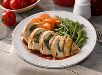 Spinach and Feta Stuffed Chicken Breast with Pomodoro