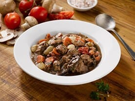Beef and Vegetable Stew with Burgundy Wine